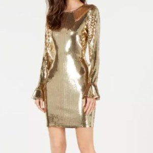 NWT Michael Kors Sequined Bell-Cuff Dress Size XS